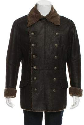 Dolce & Gabbana Shearling-Lined Leather Jacket