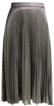 Christopher Kane Pleated Metallic Skirt - Womens - Silver