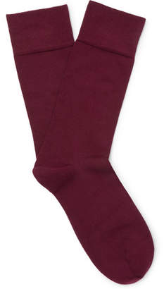 John Smedley Sigma Sea Island Cotton-Blend Socks