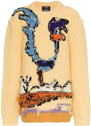 Calvin Klein x Looney Tunes Roadrunner intarsia reversed seam virgin wool jumper