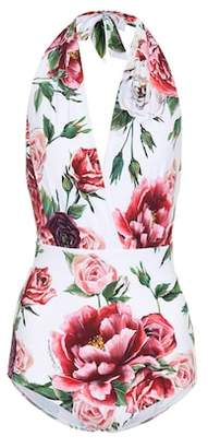 Dolce & Gabbana Floral-printed swimsuit