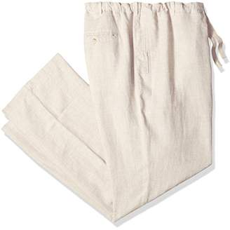 Perry Ellis Men's Big and Tall Linen Drawstring Pant