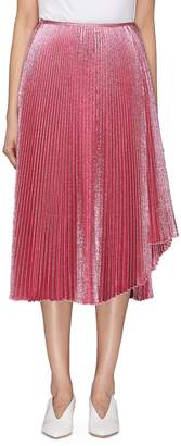 Cédric Charlier Asymmetric pleated skirt