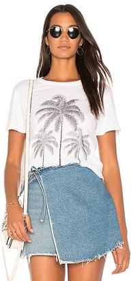 Lauren Moshi Evie Palm Crop Tee in White $79 thestylecure.com