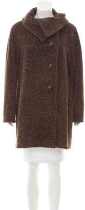 Cinzia Rocca Wool-Alpaca Knee-Length Coat