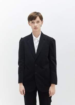 Hope Puff Shoulder Cotton Blazer Black Stripe