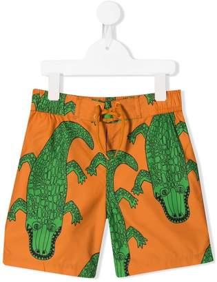 Mini Rodini crocodile print swim shorts