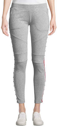 Generation Love Wells Studded Racer Stripe Sporty Sweatpants