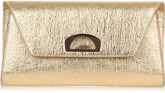Christian Louboutin Vero Dodat gold leather clutch