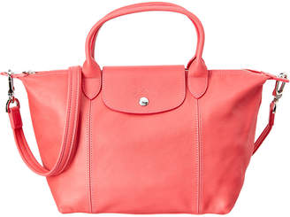 Longchamp Le Pliage Cuir Small Leather Top Handle Tote