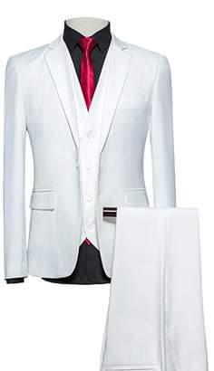 3.1 Phillip Lim UNINUKOO Mens Casual Slim Fit Suit Jacket Waistcost & Pants US Size Label Size M)