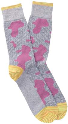 Robert Graham Philo Diamond Camo Crew Socks