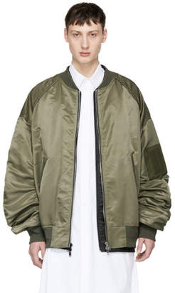 Juun.J Khaki Detached Bomber Jacket
