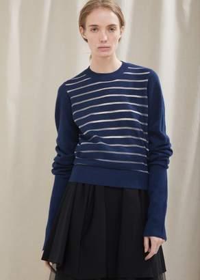 Noir By Kei Ninomiya Horizontal Stripe Knit Sweater