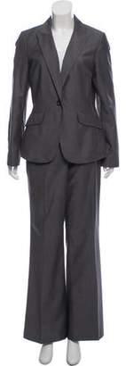 Calvin Klein Collection Peak-Lapel Wide-Let Pantsuit