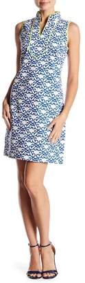Vince Camuto Contrasted Patterned Shift Dress