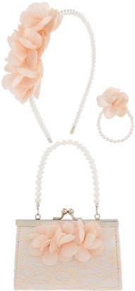 Monsoon Lucia Lace Bag, Headband & Bracelet