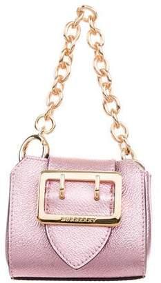 Burberry Metallic Mini Buckle Bag