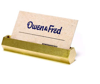 Owen & Fred Hex Brass Business Card Holder