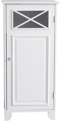 Elegant Home Fashions Prairie Floor Cabinet with Door, White
