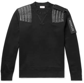 Craig Green Moncler Genius - 5 Moncler Nylon-Panelled Cotton-Blend Jersey Sweatshirt - Men - Black