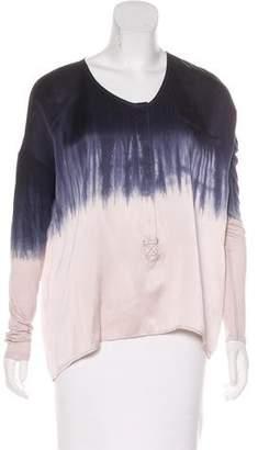 Calypso Oversize Silk Ombré Blouse