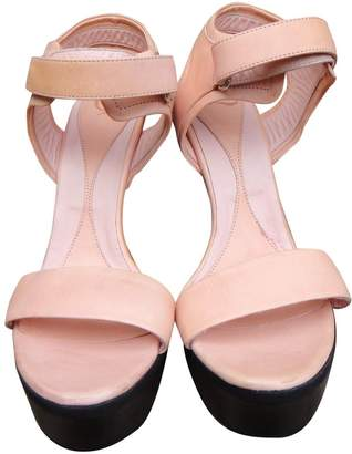 McQ Pink Leather Sandals