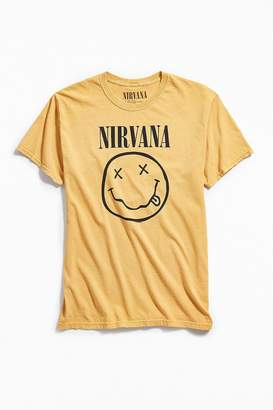 Urban Outfitters Pigment Dyed Nirvana Smiley Tee