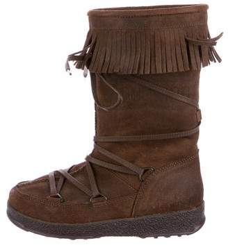 Tecnica Girls' Dakota Suede Boots w/ Tags