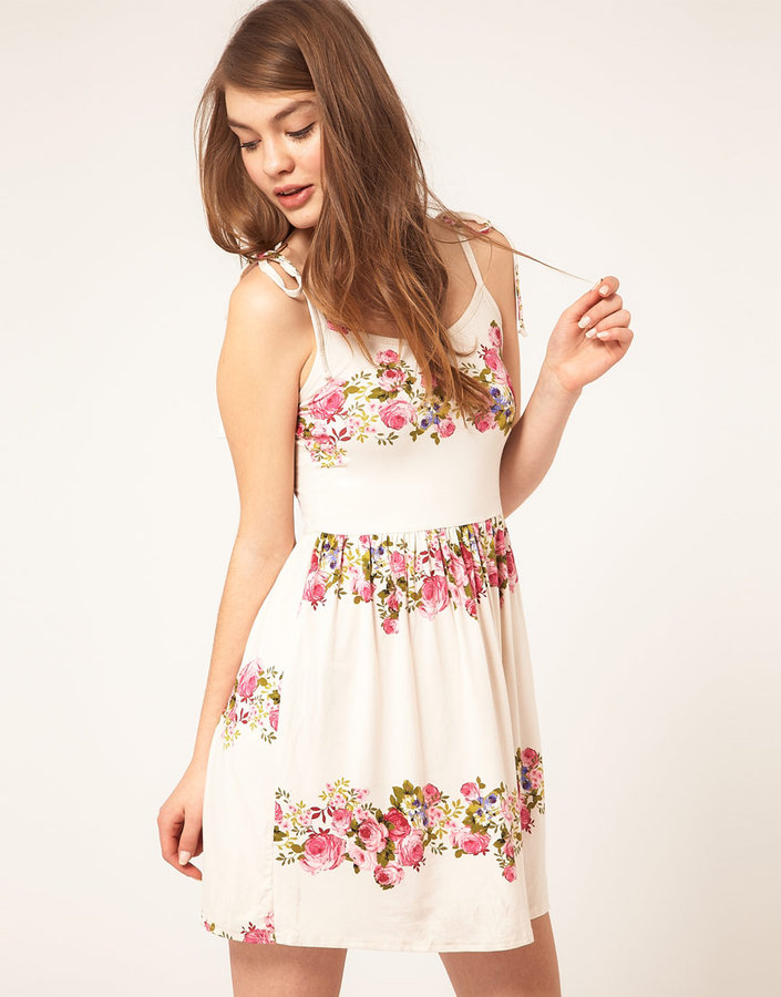 ASOS Summer Dress In Rose Print