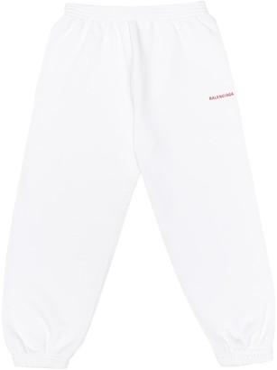 Balenciaga Kids Cotton-jersey trackpants