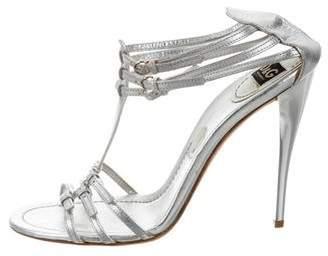 Dolce & Gabbana Metallic Multistrap Sandals