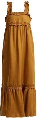 LEE MATHEWS Peyten linen long dress