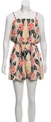 Temperley London Floral Print Silk Romper