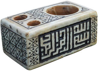 One Kings Lane Vintage Moorish Marble Candleholder & Catchall - The Moroccan Room
