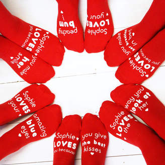 Sparks And Daughters Personalised Love You Because Sock Subscription