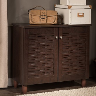 Baxton Studio Winda Wood Shoe Storage Entryway Cabinet