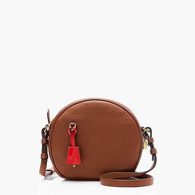 Signet circle bag in Italian leather