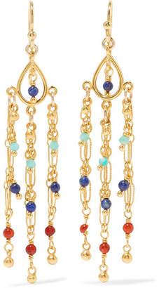 Chan Luu Gold-plated Beaded Earrings