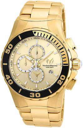 Technomarine TECHNO MARINE Techno Marine Mens Gold Tone Bracelet Watch-Tm-215044