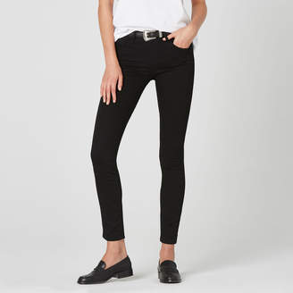 DSTLD Mid Rise Skinny Jeans in Black Powerstretch