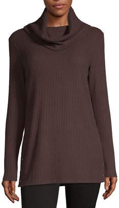 Liz Claiborne Fall 19 Womens Cowl Neck Long Sleeve Knit Blouse