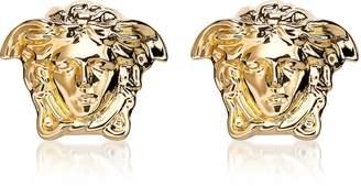 Versace Gold Metal Medusa Stud Earrings