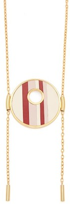 Marni Striped Circle Pendant Necklace - Womens - Pink