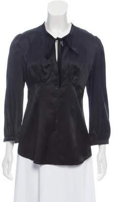 Burberry Silk Button-Up Top