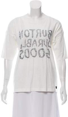 Burton Printed Short Sleeve Top w/ Tags