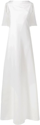 Givenchy sleeveless cape gown
