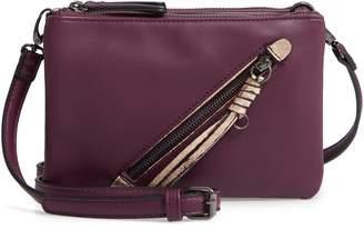 c294140329ee74 Sondra Roberts East/West Faux Leather Crossbody Bag
