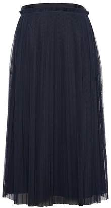 Banana Republic Petite Pleated Tulle Midi Skirt