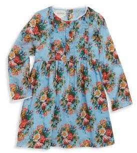 Gucci Baby's Floral Ruffle-Trim Dress